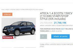 Compra tu SEAT todo 100% ONLINE, Fecosauto SEAT Concesionario SEAT/Volkswagen, Mollet del Vallès, Barcelona, Ateca con descuento