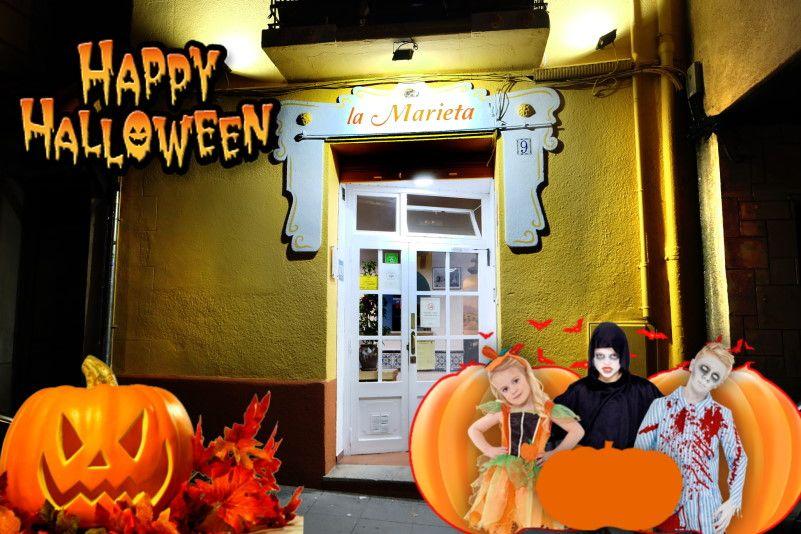 Restaurant La Marieta, Mollet del Vallès,Barcelona, menú diario 10,60€, menú para grupos y carta selecta, Feliz Halloween