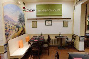 Restaurante La Marieta, Mollet del Vallès, Barcelona, menú diario a 10,60€, todos los días un arroz diferente, especialistas en comida tradicional, dos platos a escoger, bebida y postre incluido, (IVA Incl.). Cocina catalana y de mercado.El mejor restaurante del Vallès.