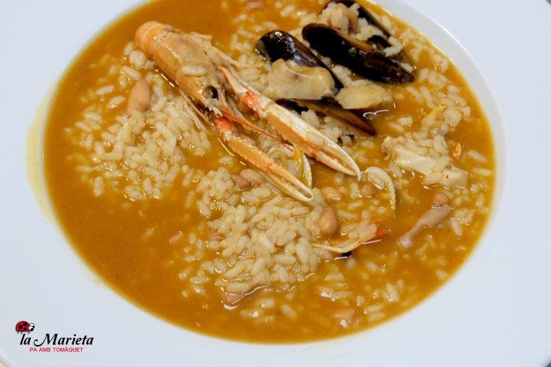 Restaurante La Marieta, Mollet del Vallès,Barcelona, tel. 93 593 31 83, arroz caldoso a la marinera