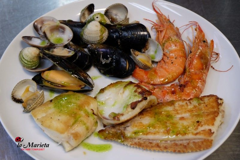 Restaurant La Marieta, Mollet del Vallès,Barcelona, tel. 93 593 31 83, menú especial sábados 23€  incl.bebida y postre