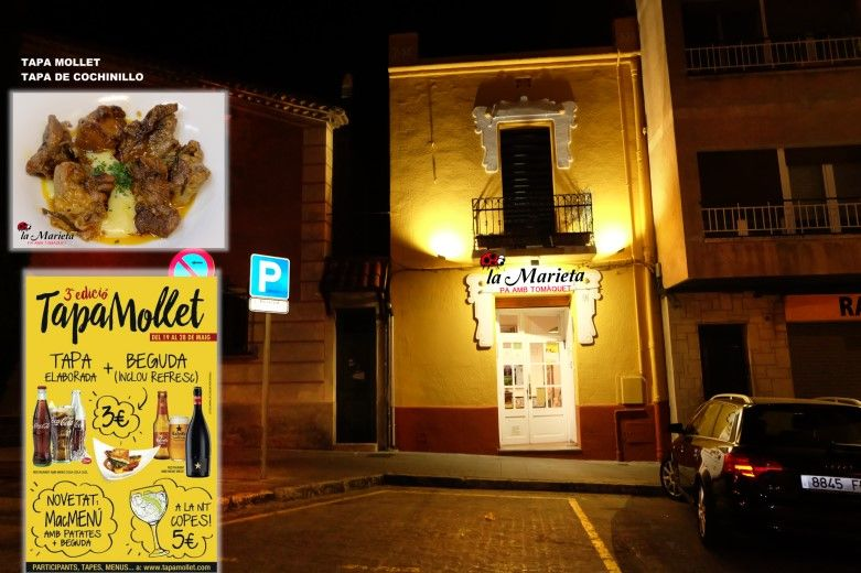 Restaurant La Marieta, Tapa Mollet 2017, Tapa de Cochinillo, comer bien en Mollet del Vallès, tel.935 93 31 83