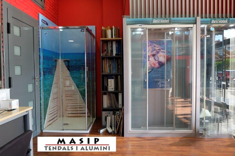 Tendals i aluminis Masip, Mollet del Vallès, Barcelona, carpintería metálica en aluminio, baños, cocinas, mamparas ducha y baño, cerramientos, toldos y rejas