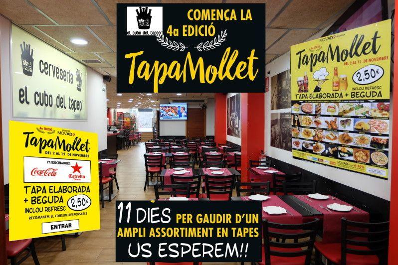 El cubo del tapeo, Mollet del Vallès,Barcelona, Tapa Mollet, del 2 al 11 de nov. 2017,las mejores nuevas tapas, gran terraza de verano 2017, tel.930 16 13 54