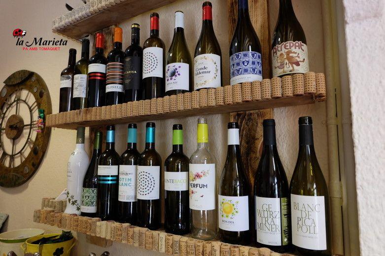 Restaurante La Marieta, nueva carta de vinos, variada,  celler de vins, íntimo y familiar, aniversarios,cenas románticas y celebraciones en Mollet del Vallès, Barcelona.