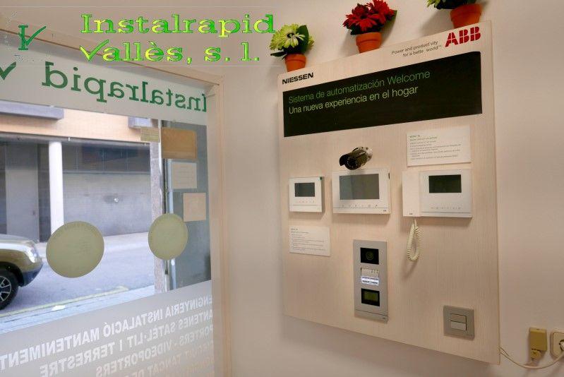 Instalrapid Vallès S.L.,Mollet del Valles, Barcelona, vídeo porteros digitales ABB para comunidades vecinos,instalación y reparación, taller propio