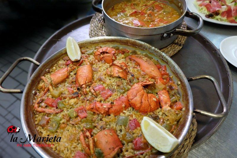 Restaurante La Marieta,en Mollet del Vallès, Barcelona paella bogavante, íntimo y familiar, aniversarios,cenas románticas, cenas de empresa y celebraciones