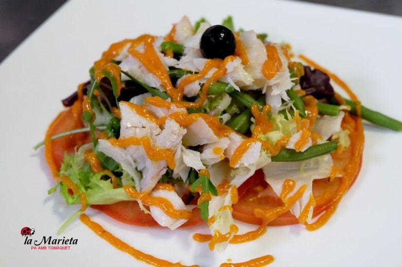 Restaurante La Marieta,Mollet del Valles, Barcelona , Menú degustación. Todos los viernes 25€ y los sábados 30€ , incluye mariscada