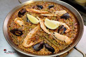 Restaurante La Marieta,Mollet del Valles, Barcelona, paella mixta , Menú degustación los viernes 25€ y los sábados 30€ , incluye mariscada