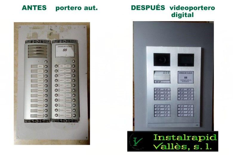 Instalrapid Vallès S.L.Mollet del Vallès, Barcelona, vídeo porteros digitales ABB Niessen, instalaciones profesionales
