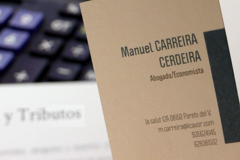 Manuel Carreira, abogado y economista,Derecho fiscal en Parets del Vallès,Barcelona