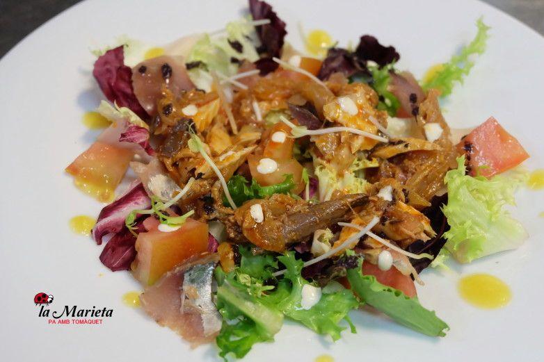 Para disfrutar un menú diario en Mollet del Vallès,Barcelona, restaurant la Marieta