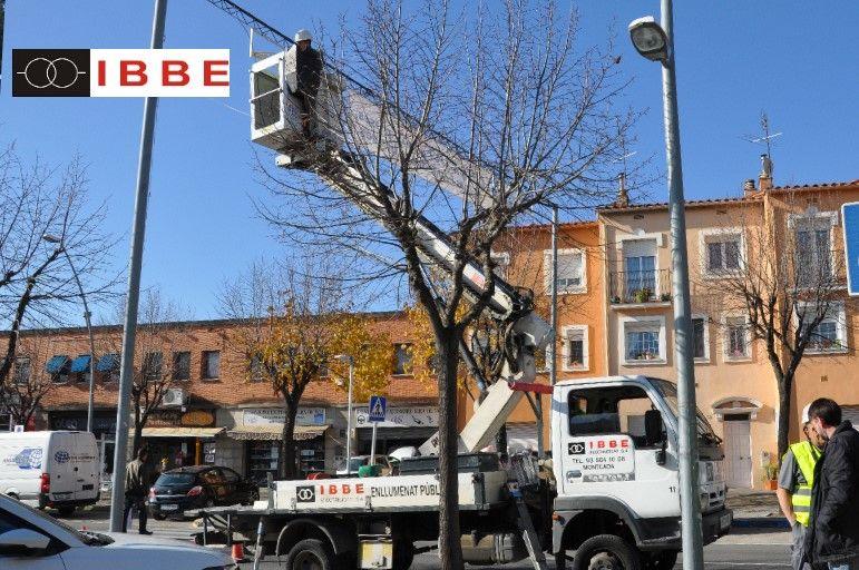 Iluminación de Navidad 2019 IBBE. Instalaciones eléctricas industriales alumbrado público