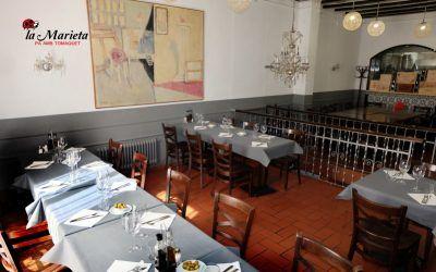 Restaurante íntimo y acogedor La Marieta,Mollet del Valles, Barcelona, Menú de tapas los viernes 25€ y los sábados, mes agosto abierto