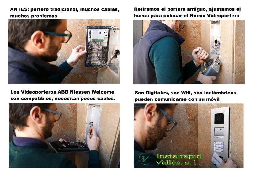 Instalación Interfonos y Videoporteros ABB Niessen Welcome en Barcelona, para comunidades, Instalrapid Vallès