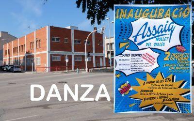 Nueva Escuela de Danza Assaig en Mollet, gran inauguración 2 de octubre 2021, Centresport Pantiquet